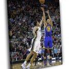 Stephen Curry Golden State Warriors Jump Shot 40x30 Framed Canvas Print