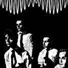 Arctic Monkeys Painting Art Indie Rock Band BW 32x24 Print Poster