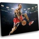 Derrick Rose Chicago Bulls Basketball Sport 50x40 Framed Canvas Art Print