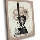 Dirty Harry Movie Magnum Clint Eastwood Art 30x20 Framed Canvas Print