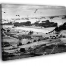 D Day Invasion Of Normandy US Troops WW2 Old 30x20 Framed Canvas Print