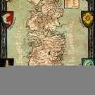 Seven Kingdoms Of Westeros Map Game Of Thrones 24x18 Print Poster
