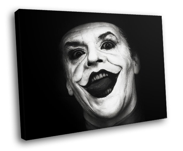 Jack Nicholson Legend Actor Batman Joker 50x40 Framed Canvas Art Print