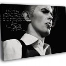 David Bowie Signature Portrait Rock Art BW 50x40 Framed Canvas Print