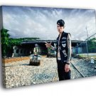 Machine Gun Kelly MGK Rapper Hip Hop Music Rap 50x40 Framed Canvas Print