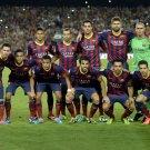 Barcelona FC Squad 2014 Valdes Pique Messi Neymar 24x18 Wall Print POSTER