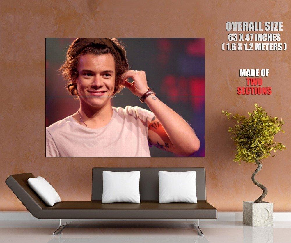 Harry Styles Portrait Tattoo Pop Singer Music Giant Huge Print Poster