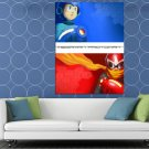 Megaman Proto Man Blues Rockman Mega Man Video Game HUGE 48x36 Print POSTER