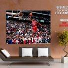 Michael Jordan Slam Dunk Chicago Bulls Retro Giant Huge Print Poster