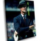 Tom Landry Head Coach Dallas Cowboys 50x40 Framed Canvas Art Print