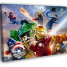 Lego Superheroes Characters Kids Art 40x30 Framed Canvas Print