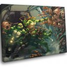 Teenage Mutant Ninja Turtles Villains Zombies Art 50x40 Framed Canvas Print