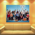 Glee Cast Characters Tv Series Huge Giant Print Poster