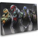 Teenage Mutant Ninja Turtles TMNT Dark Angry Art 40x30 Framed Canvas Print