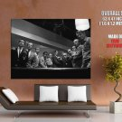 Rat Pack Pool Table Retro Music Band BW GIANT Huge Print Poster
