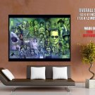 Classic Retro Horror Movies Characters Painting Art GIANT Huge Print Poster