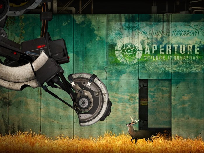 Portal 2 GLaDOS Aperture Science Laboratories Art 32x24 Print Poster