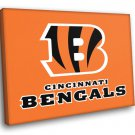 Cincinnati Bengals Football Logo Hockey Sport Art 50x40 Framed Canvas Print