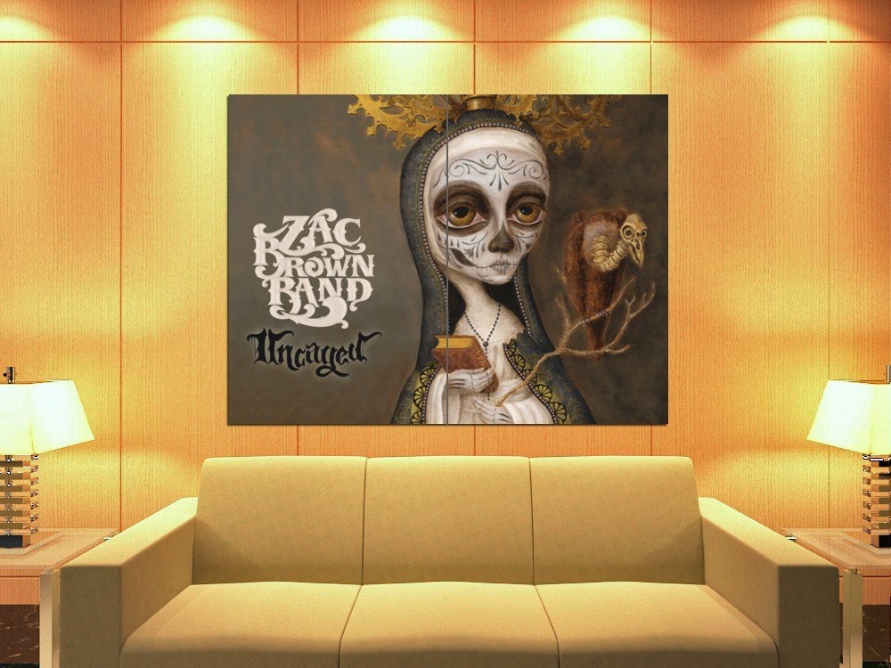 Zac Brown Band Uncaged Painting Country Band Art Huge