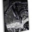 Alien Queen Xenomorph Eggs Sci Fi Movie Art 50x40 Framed Canvas Print