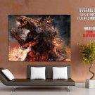 Godzilla Monster Movie Giant Huge Wall Print Poster