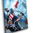 Marvel Comics Captain America Super Hero Hawkeye 50x40 Framed Canvas Art Print
