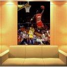 Michael Jordan Chicago Bulls Lakers Magic Johnson Huge Giant Print Poster