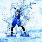 Stephen Steph Curry Golden State Warriors Art 16x12 Print Poster