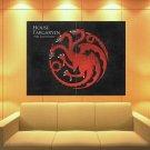 House Targaryen Logo Sigil Game Of Thrones Huge Giant Print Poster