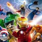 Lego Superheroes Characters Kids Art 24x18 Wall Print POSTER