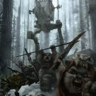 Battle Of Endor AT ST Stormtroopers Ewoks Star Wars 32x24 Wall Print POSTER