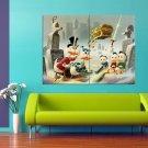 Donald Duck Cartoon Scrooge McDuck 47x35 Print Poster