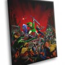 Link Sheik The Legend Of Zelda Amazing Battle Art 50x40 Framed Canvas Print