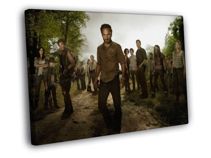 The Walking Dead Cast Characters TV Series 50x40 Framed Canvas Print