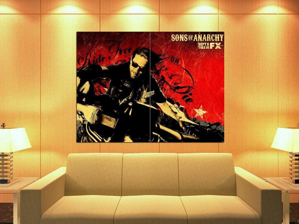 Sons Of Anarchy Biker Ride Free Or Die TV Series 47x35 Print Poster