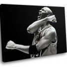 Michael Jordan NBA Legend Basketball Sport BW 30x20 Framed Canvas Art Print