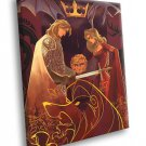 Lannister Family Game Of Thrones TV Series Art 30x20 Framed Canvas Print