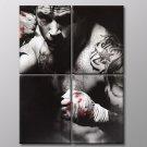 Tom Hardy Actor Tommy Conlon Warrior 50x40 Framed Canvas Art Print