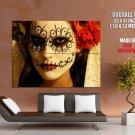 Dia De Los Muertos Day Of The Dead Body Art Giant Huge Print Poster