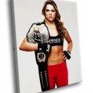 Ronda Rousey Martial Artist 40x30 Framed Canvas Art Print