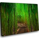 Bamboo Forest 30x20 Framed Canvas Art Print