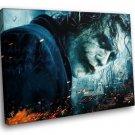 The Joker Batman The Dark Knight Movie 30x20 Framed Canvas Art Print