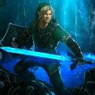 The Legend Of Zelda Link Sword Fantasy Art 24x18 Print Poster