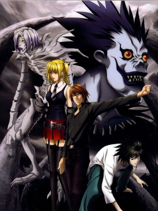 Death Note Characters Anime Manga Art 16x12 Print POSTER