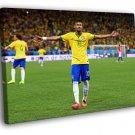 Neymar Jr 2014 FIFA World Cup Brazil Football 50x40 Framed Canvas Print