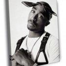 2Pac BW Tupac Amaru Shakur Tattoos Hip Hop Rap 50x40 Framed Canvas Print
