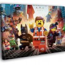The Lego Movie Characters Cool 2014 Art 50x40 Framed Canvas Print