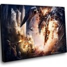 Transformers Age Of Extinction Movie 50x40 Framed Canvas Art Print