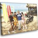 Teen Beach Movie Ross Lynch Maia Mitchell 50x40 Framed Canvas Art Print