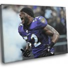 Ray Lewis American Football NFL Baltimore Ravens 40x30 Framed Canvas Art Print